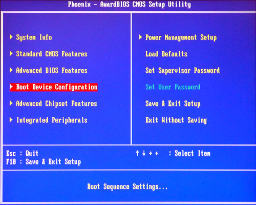 How to set BIOS to boot computer from Lazesoft recovery USB disk