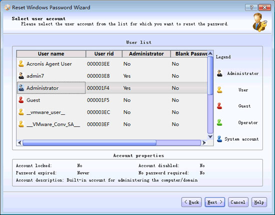 Click to view Lazesoft Recover My Password Pro 3.3.0 screenshot