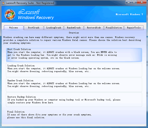 Lazesoft Recovery Suite - How to fix boot problems if