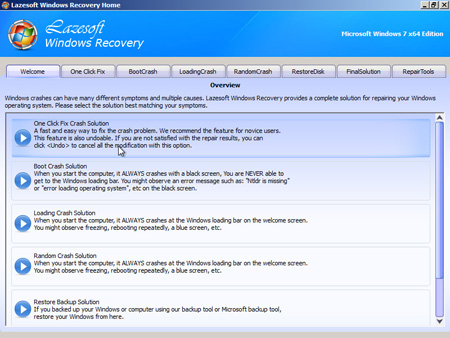Lazesoft Windows Recovery Home